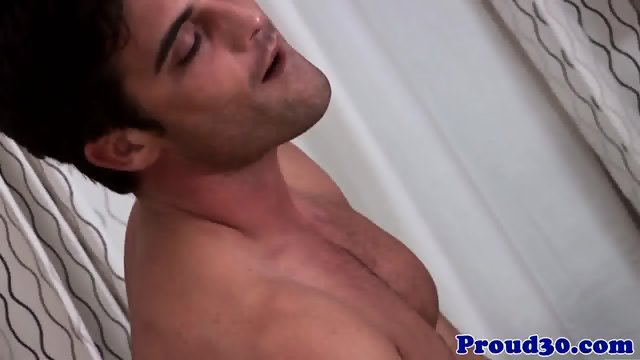 Solo hunk Lance Hart jerking his cock