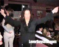 Amateur Girl sucks naked stripper in public party - scene 1