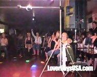 Amateur Girl sucks naked stripper in public party - scene 9