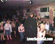 Amateur Girl sucks naked stripper in public party - scene 10