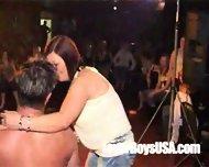 Amateur Girl sucks naked stripper in public party - scene 6