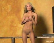 Amy Ried Strips In A Hallway - scene 5