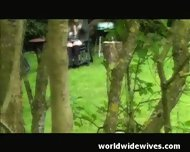 Milf Plays In The Garden - scene 1