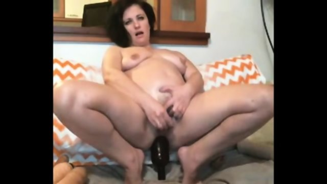 Bottle In Pussy And Ass