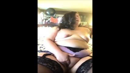 Super BBW Teasing And Masturbating - scene 1