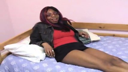 Black girl has brand new toys - scene 1