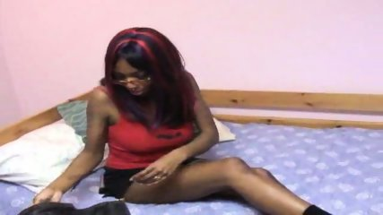 Black girl has brand new toys - scene 2