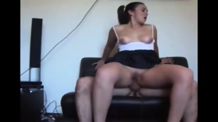 Amateur Girl Rides To A Climax