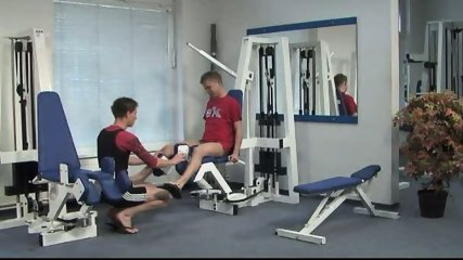 Bareback Gym Buddies PART 2 - scene 1