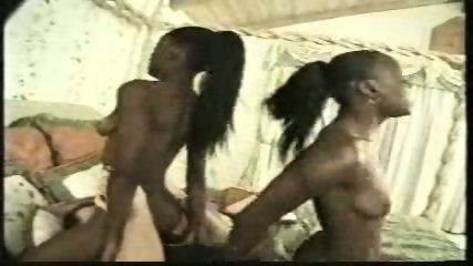 Two ebony Girls and one Guy - scene 8
