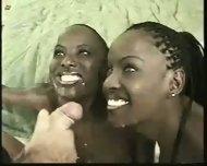 Two ebony Girls and one Guy - scene 11