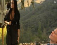 Audrey Bitoni - Big Boob Pornstar Fucked Outdoors - scene 1