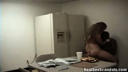 Couple gets caught on cam having sex in the breakroom - scene 9