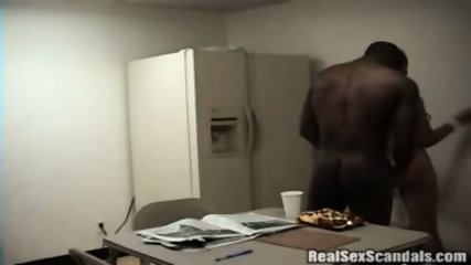 Couple gets caught on cam having sex in the breakroom - scene 11