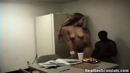 Couple gets caught on cam having sex in the breakroom
