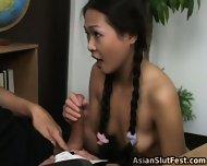Asian Slut Nyomi Sucks And Fuck - scene 1