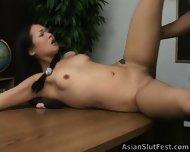 Asian Slut Nyomi Sucks And Fuck - scene 7